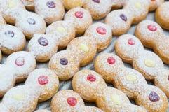 Modell av blandade donuts Royaltyfri Foto