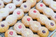 Modell av blandade donuts Royaltyfri Fotografi