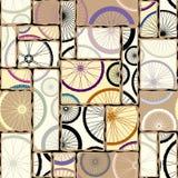 Modell av bycicleshjul stock illustrationer
