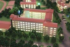 Modell av byggnad royaltyfria foton