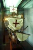 Modell av caravelen Santa Maria, Spanien Arkivbilder