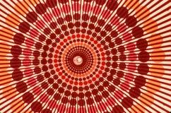 Modell av cirklar och utstrålalinjer Arkivbild