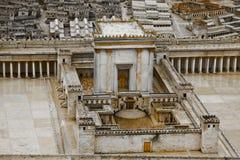 Modell av den andra templet royaltyfria bilder