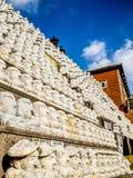 Modell av den buddistiska helgonstenen, i koreansk arkitektonisk stil, Royaltyfri Fotografi
