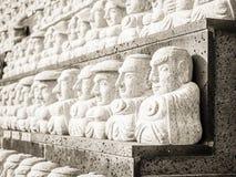 Modell av den buddistiska helgonstenen, i koreansk arkitektonisk stil, Fotografering för Bildbyråer