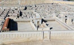 Modell av den forntida Jerusalem tempelmonteringen Royaltyfri Bild