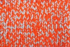 Modell av den stack tygtexturen Woolen bakgrund Arkivfoto