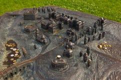Modell av den Tsaritsino slotten - Ryssland Moskva Arkivbild
