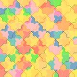 Modell av det färgrika pusslet Arkivbild