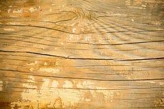 Modell av det gamla stycket av trä med kanstött målarfärg Royaltyfri Foto