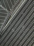 Modell av det geometriska metallgolvet Royaltyfria Bilder