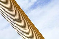 Modell av det gula trådrepet på upphängningbron - abstrakt bakgrund royaltyfria foton