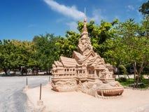 Modell av en tempel, Thailand Arkivbild
