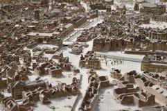 Modell av förstörda Hannover Arkivfoto