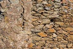 Modell av gammal yttersida för stenvägg arkivfoton