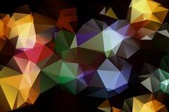 Modell av geometriska former trianglar textur Royaltyfri Bild