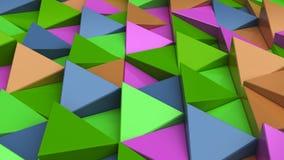 Modell av gräsplan-, apelsin-, lila- och blåtttriangelprismor Arkivfoton
