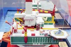 Modell av havsoljagrunden på Ryssland Marine Industry Conference 2012 Royaltyfria Foton