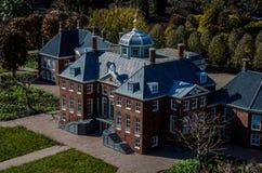Modell av Huis ten Bosch - Madurodam, Haag, Nederländerna Royaltyfri Foto