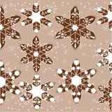 Modell av julkakor med snöflingor stock illustrationer