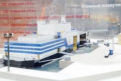 Modell av kärn- sväva makt Arkivfoto