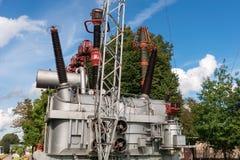 Modell av kraftverket Arkivfoton