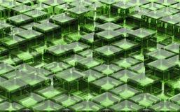 Modell av kuber stock illustrationer