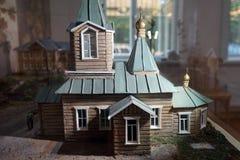 Modell av kyrkan royaltyfria foton
