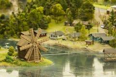 Modell av lilla staden Royaltyfria Foton
