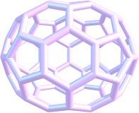 Modell av molekylfullerenen C70 Royaltyfri Foto
