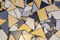 Modell av ojämna tegelplattor på golvet royaltyfri bild