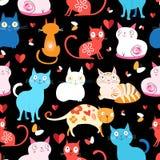 Modell av olika katter royaltyfri illustrationer