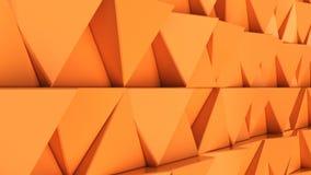 Modell av orange triangelprismor Arkivbilder