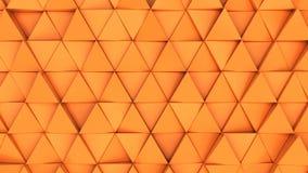Modell av orange triangelprismor Royaltyfri Bild