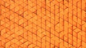 Modell av orange triangelprismor Royaltyfria Foton
