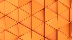 Modell av orange triangelprismor Arkivfoto