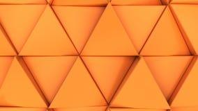 Modell av orange triangelprismor Royaltyfri Foto