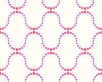 Modell av prickar, rosa färger och lilor stock illustrationer
