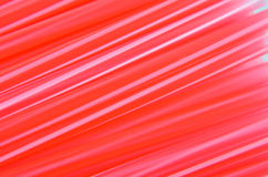 Modell av rött sugrör Arkivbild