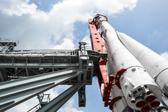Modell av raket`-Vostok `, Fotografering för Bildbyråer
