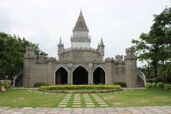 Modell av slotten i en parkera Royaltyfri Fotografi