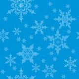 Modell av snöflingor royaltyfri illustrationer