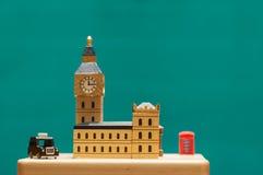 modell av staden av London arkivbild