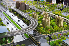 Modell av stads- kollektivtrafik Fotografering för Bildbyråer