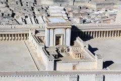 Modell av templet på tempelmonteringen i forntida Jerusalem Royaltyfri Foto