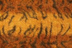 Modell av textur för tigerpälstyg för bakgrund royaltyfria bilder