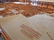 Modell av utgrävningarna av Pompeii arkivfoto