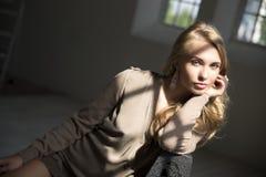 Modell bedeckte Schatten Lizenzfreie Stockfotos