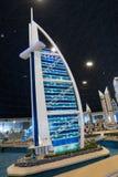 Modell Burj Al Arab bei Legoland Dubai lizenzfreie stockfotos