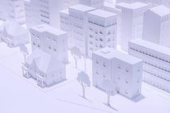 Modell City Royaltyfri Fotografi
